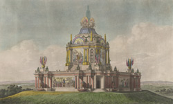 A perspective view of the revolving Temple of Concord